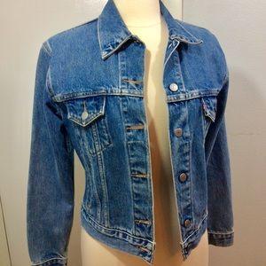 Levi's Denim Blue Jean Trucker Jacket Sz S